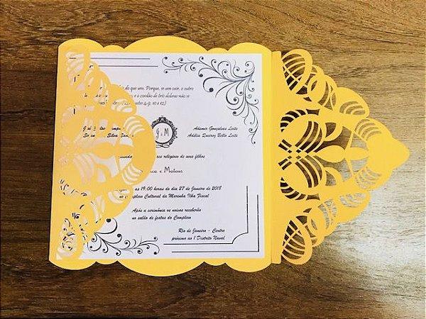 Kit - 50 unidades envelopes para convites - Ana