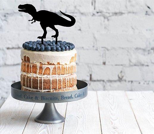 Topo de bolo - Dinossauros Acrílico - Várias cores