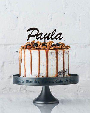 Topo de bolo Acrilico- Nome personalizado - Várias cores
