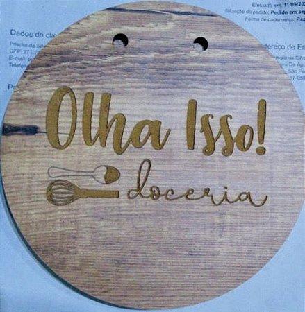Plaquinha decorativa - Madeira rustica (1 uni)