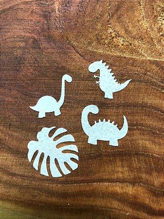 Aplique de papel arroz -Dinossauros