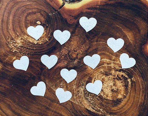 Aplique de papel arroz -Mini coração