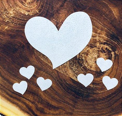 Aplique de papel arroz -Coração