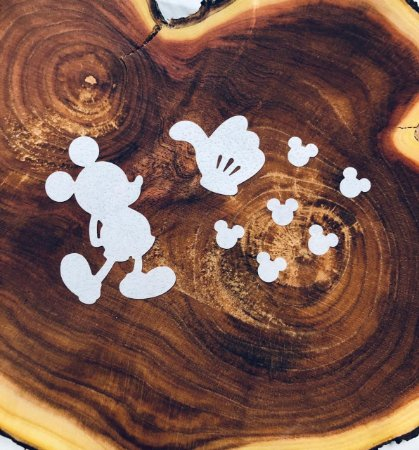 Aplique de papel arroz -Mickey