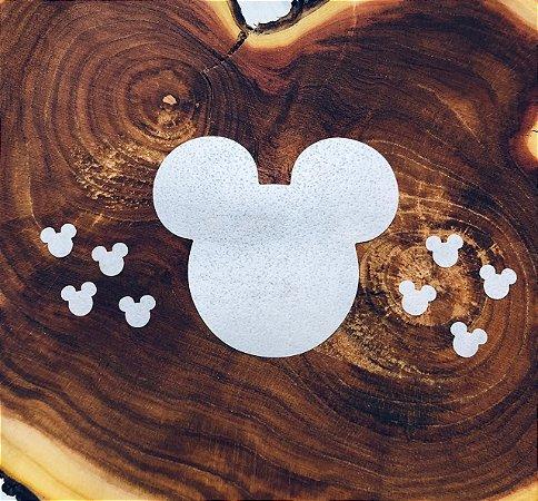 Aplique de papel arroz -Cabeça Mickey