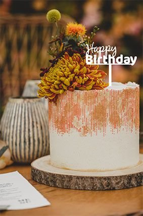 Topo de bolo -Happy Birthday 3 -MDF - Várias cores