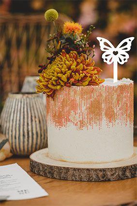 Topo de bolo -Borboleta  Acrílico - Várias cores