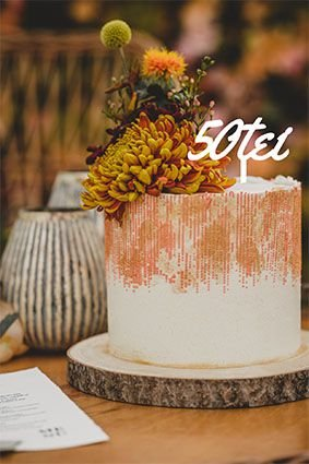 Topo de bolo -Cinquentei Acrílico - Várias cores