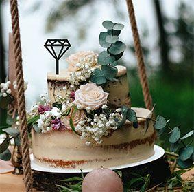 Topo de bolo -Diamante-MDF - Várias cores