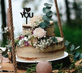 Topo de bolo -I love you 2-MDF - Várias cores