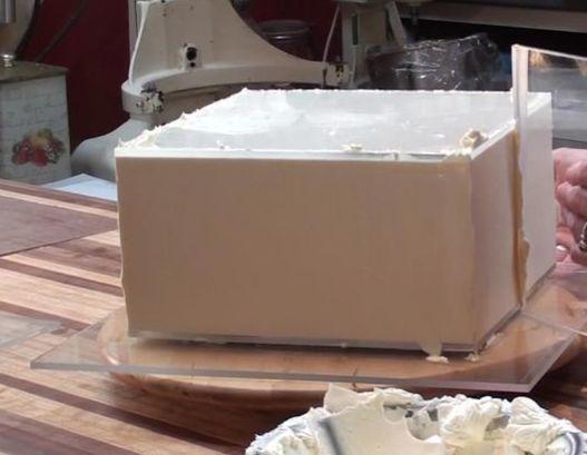 Guia para quinar bolo - quadrada - Kit com 2 unidades