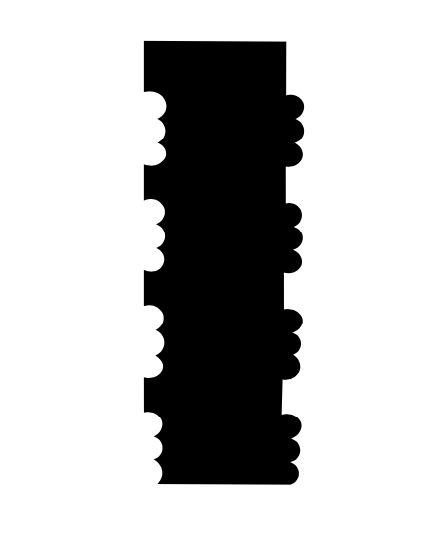 Espátula decorativa para bolo 06 - Acrílico