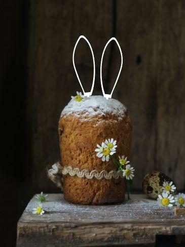 Topo de bolo - Orelhas de coelho- Acrílico - Várias cores