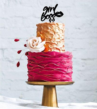 Topo Girls Boss - MDF- Várias cores