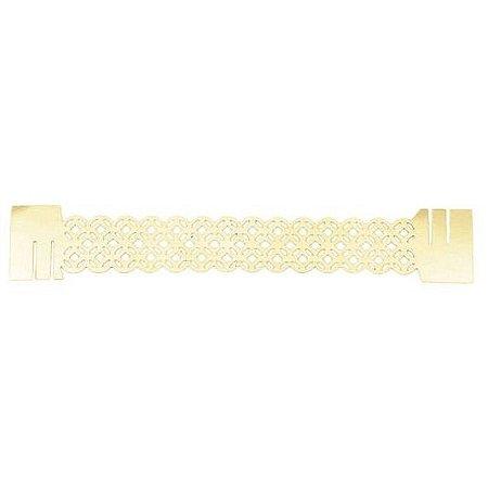 Porta Guardanapo -  Tiles Metal Gold