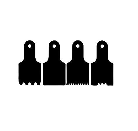 KIT - Espatulas para mini bolo - 03 - Acrílico