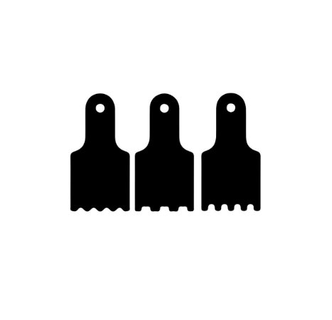 KIT - Espatulas para mini bolo - 05 - Acrílico