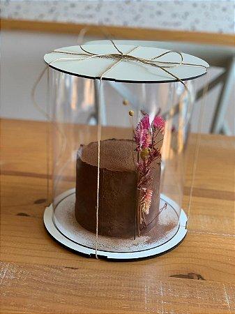 Caixa para bolo alto 20cm - com cake board embutido.