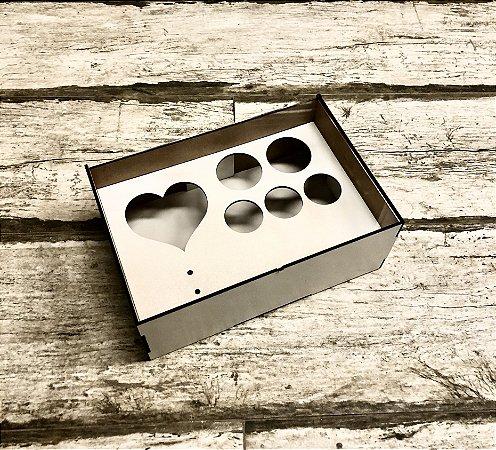 Caixa com tampa de acrílico - com encaixe para doces