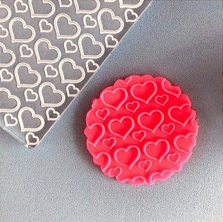 Marcador de biscoito - Textura Corações
