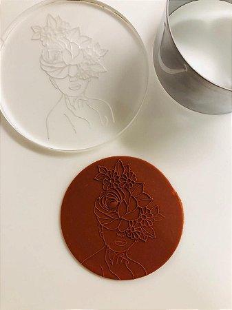 Marcador de biscoito - Flower GIrl