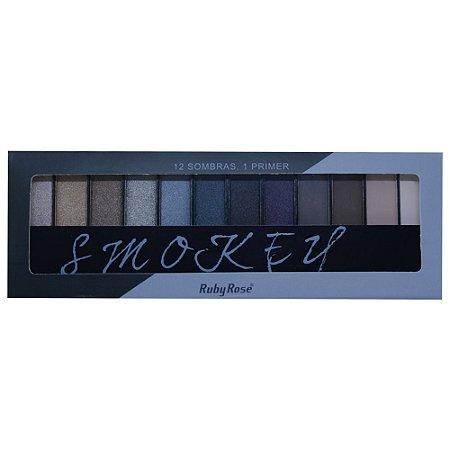 Paleta de Sombras Ruby Rose HB-9910 – Smokey 12 cores com Primer