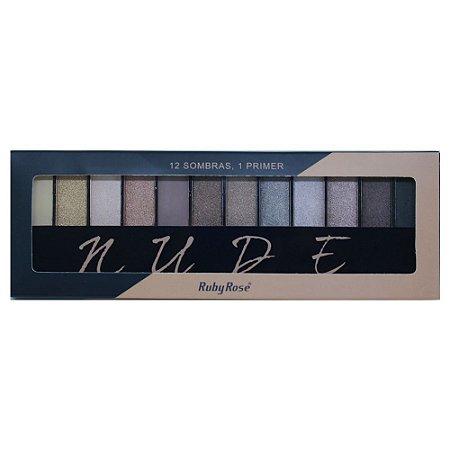 Paleta de Sombras Ruby Rose HB-9911 – Nude 12 cores com Primer