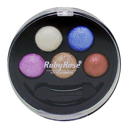 Kit de Sombra Ruby Rose - 5 Cores - Cor 3