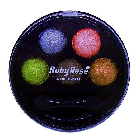 Kit de Sombra Ruby Rose - 5 Cores - Cor 5