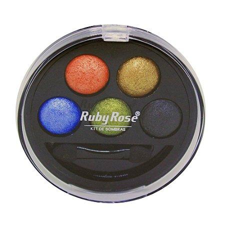 Kit de Sombra Ruby Rose - 5 Cores - Cor 6