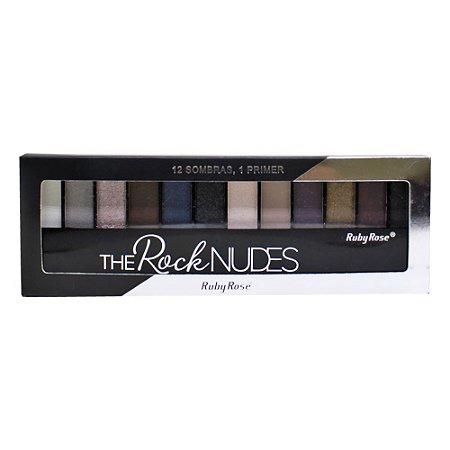 Paleta de Sombras Ruby Rose HB-9914 – The Rock Nudes 12 cores com Primer