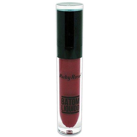 Batom Liquido Matte NEW Ruby Rose HB-8213M - Cor 75