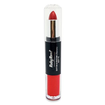 Batom Duo Metalizado Ruby Rose HB-8603 - Cor 279
