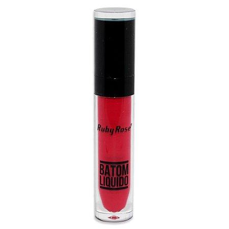 Batom Liquido Matte NEW Ruby Rose HB-8213M - Cor 63