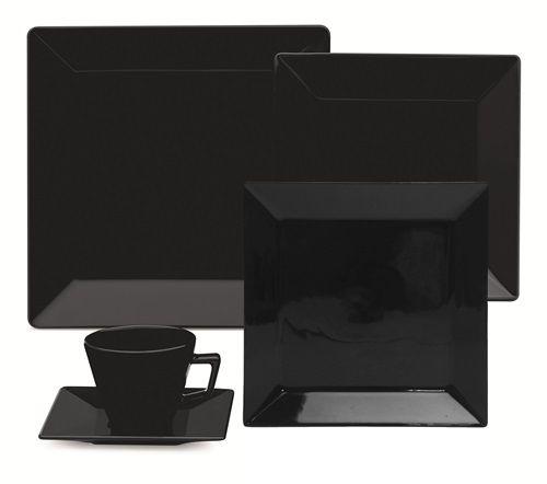 Aparelho de Jantar Quartier - Black com 20 peças