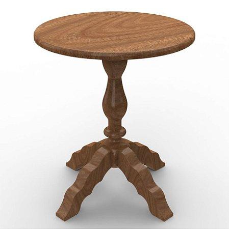 Mesa Encanto Criare em madeira Maciça na Cor Nozes - Euclar