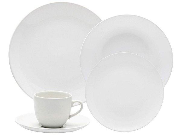 Jogo de Jantar Coup White - Para 06 Pessoas 42 Peças
