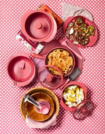 Conjunto de Panelas Oxford Cookwere Linea Rosé - 5 Peças
