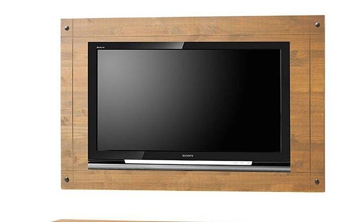 Painel de Parede em madeira Maciça para TV na Cor Cera Mel - Ref.503