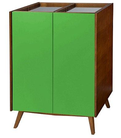Adega Novita com 02 Portas e Bandeja Superior com Espelho na Cor Verde
