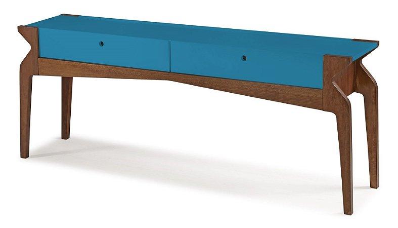Aparador Brasa com 2 gavetas na Cor Azul Turqueza