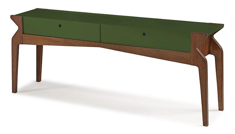 Aparador Brasa com 2 gavetas na Cor Verde Oliva
