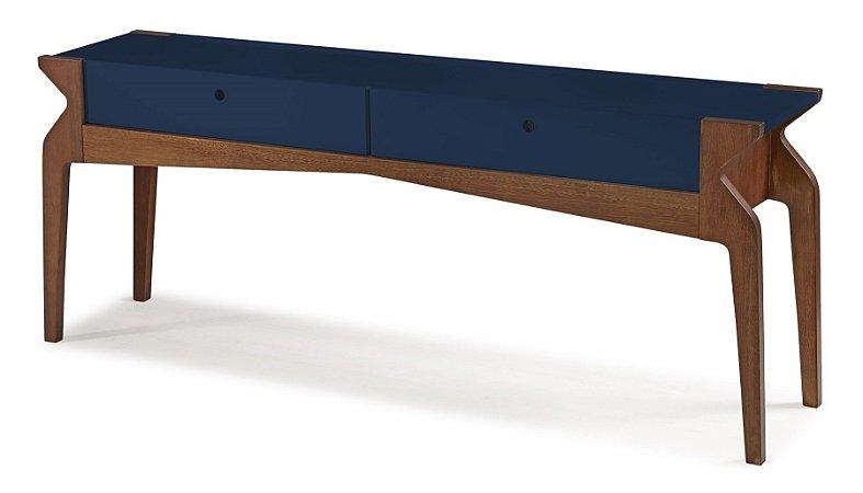 Aparador Brasa com 2 gavetas na Cor Azul Marinho
