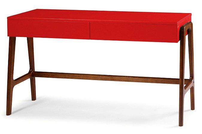 Aparador Escrivaninha Rush Retrô com 2 Gavetas - Vermelho