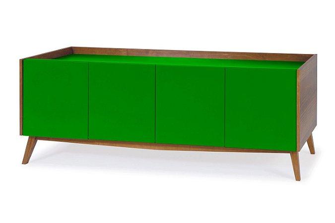 Buffet Novita com 04 Portas na Cor Verde Limão
