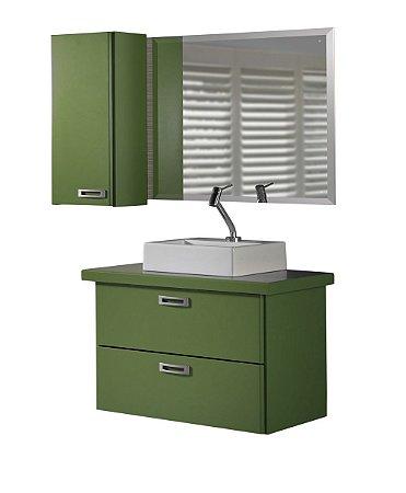 Conjunto de 3 Peças Para Banheiro Kenzo na Cor Verde Oliva