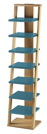 Prateleira Stairway na Cor Azul Turqueza