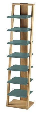 Prateleira Stairway na Cor Azul Claro
