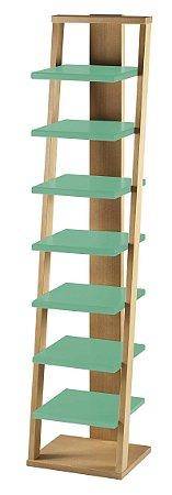 Prateleira Stairway na Cor Verde Limão