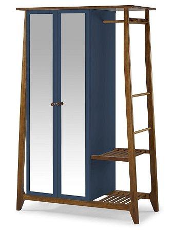Roupeiro Multiuso Stoka com 2 Portas na Cor Azul Marinho